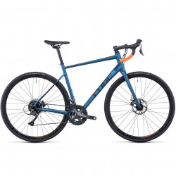 Bicicleta CUBE ATTAIN Atlanticblue Orange