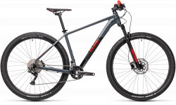 BICICLETA CUBE ATTENTION Grey Red