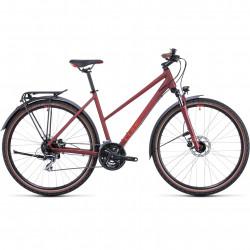 Bicicleta CUBE NATURE ALLROAD TRAPEZE Darkred Red
