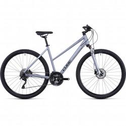 Bicicleta CUBE NATURE EXC TRAPEZE Polarsilver Black