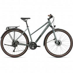 Bicicleta CUBE NATURE PRO ALLROAD TRAPEZE Silvergreen Black