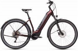 BICICLETA CUBE NURIDE HYBRID PRO 500 ALLROAD EASY ENTRY Berry Grey