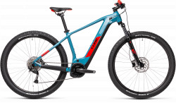 BICICLETA CUBE REACTION HYBRID PERFORMANCE 500 Blue Red