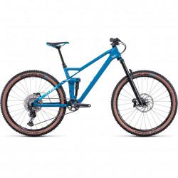 Bicicleta CUBE STEREO 140 HPC RACE 27.5 Deepblue White