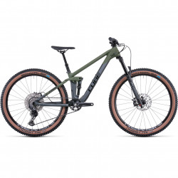 Bicicleta CUBE STEREO 140 HPC ROOKIE Flashgrey Olive