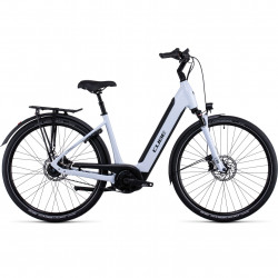 Bicicleta CUBE SUPREME HYBRID EXC 500 EASY ENTRY Flashwhite Black