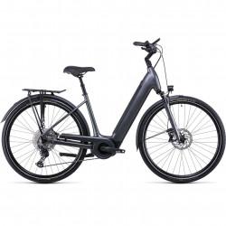 Bicicleta CUBE SUPREME SPORT HYBRID EXC 625 EASY ENTRY Graphite Black