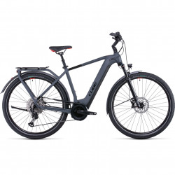 Bicicleta CUBE TOURING HYBRID EXC 625 Grey Red