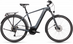 BICICLETA CUBE TOURING HYBRID ONE 400 Grey Black