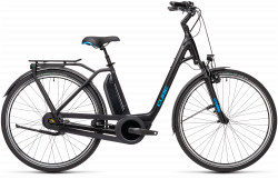 BICICLETA CUBE TOWN RT HYBRID PRO 500 EASY ENTRY Black Blue