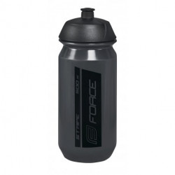 Bidon Force Stripe 0.5l Negru transparent