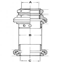 Cuvete Exterioare Tange 1'' Aluminiu Silver