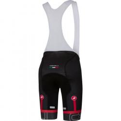 Pantaloni Scurti cu Bretele Castelli Volo Negru/Galben Fluo XL