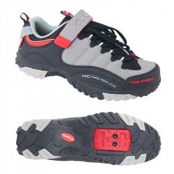 Pantofi Tourist Force Negru/Gri/Rosu