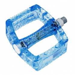 Pedale policarbonat transparent albastre