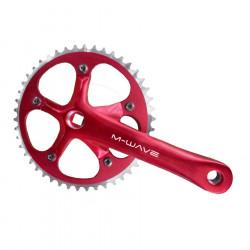 Angrenaj pedalier rosu 46T