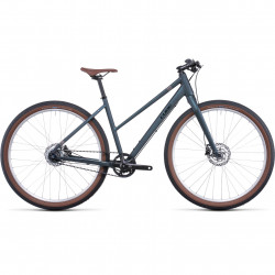 Bicicleta CUBE HYDE PRO TRAPEZE Deepblue Silver