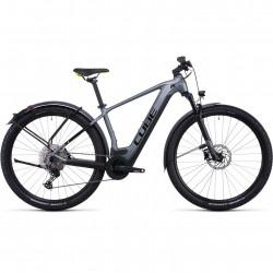 Bicicleta CUBE REACTION HYBRID PRO 625 ALLROAD Flashgrey Green
