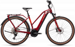 BICICLETA CUBE TOURING HYBRID EXC 625 Red Grey