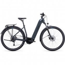 Bicicleta CUBE TOURING HYBRID ONE 500 EASY ENTRY Grey Blue