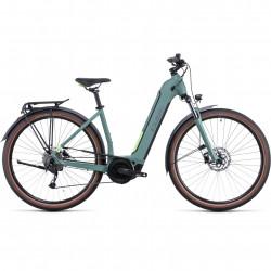 Bicicleta CUBE TOURING HYBRID ONE 625 EASY ENTRY Green Sharpgreen