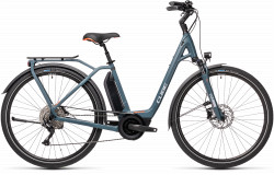BICICLETA CUBE TOWN SPORT HYBRID PRO 500 EASY ENTRY Blue Red