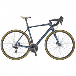 BICICLETA SCOTT ADDICT 20 DISC BLUE CHAMPAGNE XL 58
