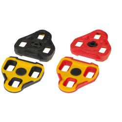 Placute pedale Look Keo galben negru