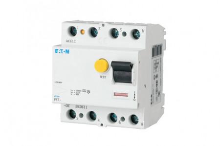 Intrerupator diferential 4P 25A/30mA 4,5kA Eaton