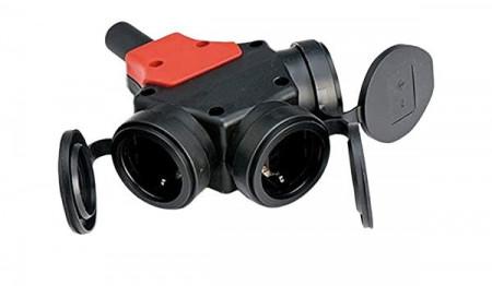 Adaptor cablu la 3 prize schuko 16A 230V IP44 Famatel