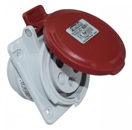 Priza industriala trifazata 400V 5P 32A 6h incastrata IP44 Famatel