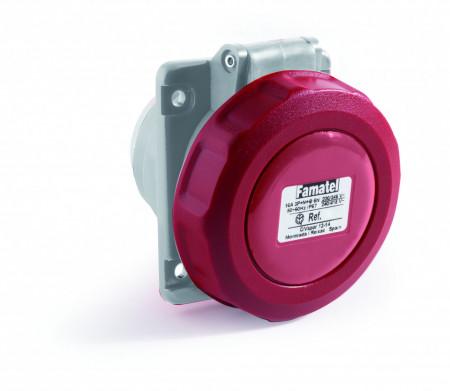 Priza industriala trifazata 400V 5P 16A 6h incastrata IP67 Famatel