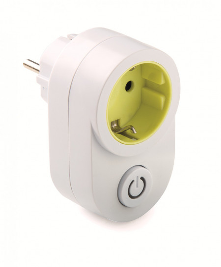Adaptor priza schuko 16A 230V IP20 cu intrerupator prevazut cu indicator led Famatel