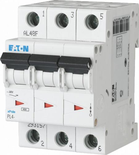 Intrerupator automat modular 3P 10A 4,5kA clasa C Eaton