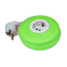 Roller 1 priza schuko 16A 230V cablu 3X1,5mmp 2m verde Famatel