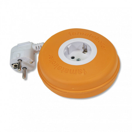 Roller 1 priza schuko 16A 230V cablu 3X1,5mmp 2m orange Famatel