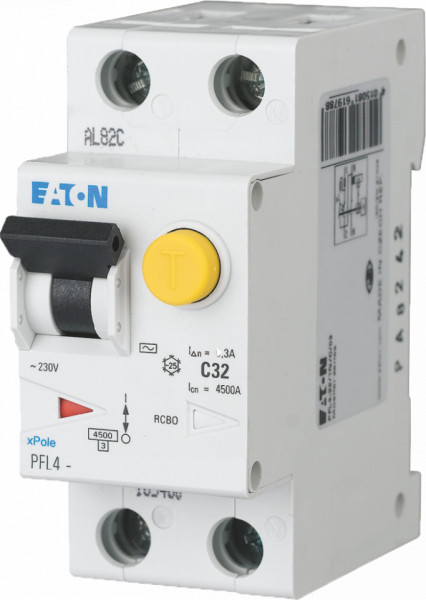 Intrerupator automat/ diferential combinat 1P+N 40A/30mA 4,5kA clasa C Eaton