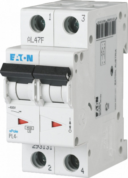 Intrerupator automat modular 2P 32A 4,5kA clasa C Eaton