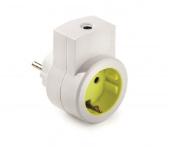 Adaptor priza schuko 16A 230V IP20 cu iesire pentru cablu Famatel