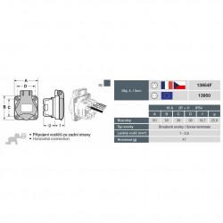 Priza monofazata schuko 230V 16A IP54 ST Famatel