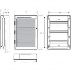 Tablou electric AcquaPlus 54M IP65 Famatel