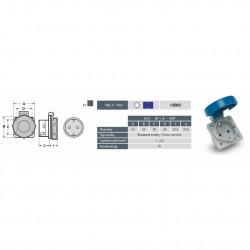 Priza monofazata schuko 230V 16A IP67 ST Famatel