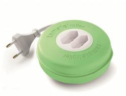 Roller 2 prize 10A 230V cablu 2X1,5mmp 3m verde Famatel