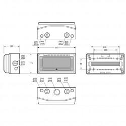 Tablou electric AcquaCOMBI 13M IP65 Famatel