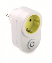 Adaptor priza schuko 16A 230V cu intrerupator prevazut cu indicator led Famatel