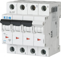 Intrerupator automat modular 3P+N 10A 4,5kA clasa C Eaton