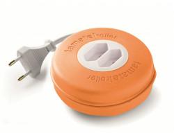 Roller 2 prize 10A 230V cablu 2X1,5mmp 3m portocaliu Famatel