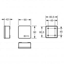 Doza aparenta 80x80x36mm fara presetupe IP55 Famatel