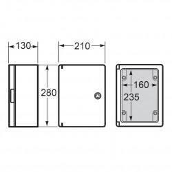 Tablou electric Magna 210x280x130mm IP65 Famatel