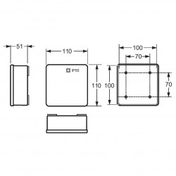 Doza aparenta 100x100x45mm fara presetupe IP55 Famatel